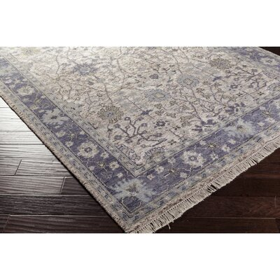 Ivy Hand-Knotted Blue/Green Area Rug Rug Size: Rectangle 6 x 9