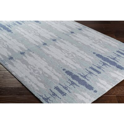 Pote Blue Area Rug Rug Size: 53 x 76