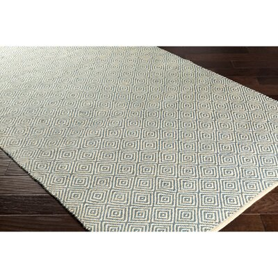 Waverly Hand-Woven Green/Black Area Rug Rug Size: Rectangle 5 x 76