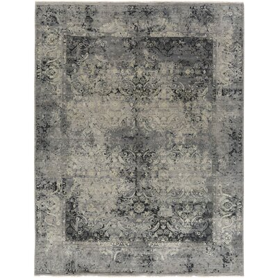 Soussi Hand Knotted Gray/Brown Area Rug Rug Size: Rectangle 10 x 14
