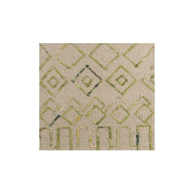 Hassani Hand-Woven Neutral/Green Area Rug Rug Size: 8 x 10