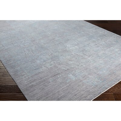 Soussi Hand-Knotted Neutral/Blue Area Rug Rug Size: 2 x 3