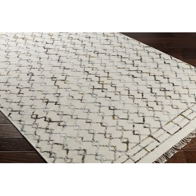 Frahm Hand-Woven Neutral/Brown Area Rug Rug Size: 8 x 10
