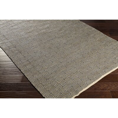 Waverly Hand-Woven Neutral/Black Area Rug Rug Size: Rectangle 8 x 10