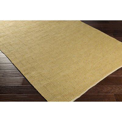 Waverly Hand-Woven Neutral/Green Area Rug Rug Size: Rectangle 5 x 76