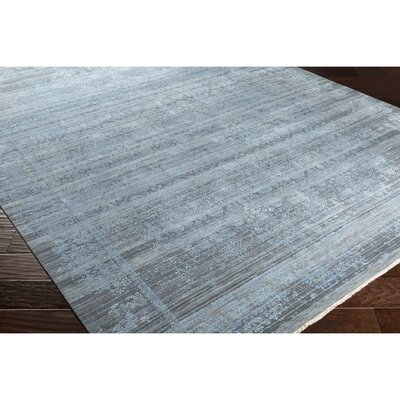 Soussi Hand-Knotted Blue/Gray Area Rug Rug Size: Rectangle 8 x 10