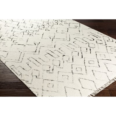 Frahm Hand-Woven Neutral/Black Area Rug Rug Size: 2 x 3