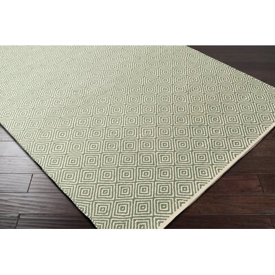 Waverly Hand-Woven Green/Red Area Rug Rug Size: Rectangle 2 x 3
