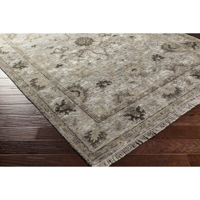 Ivy Hand-Knotted Brown/Black Area Rug Rug Size: Rectangle 9 x 13