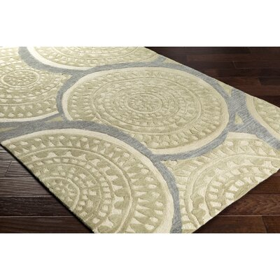 Elda Hand-Tufted Green Area Rug Rug Size: 5 x 76