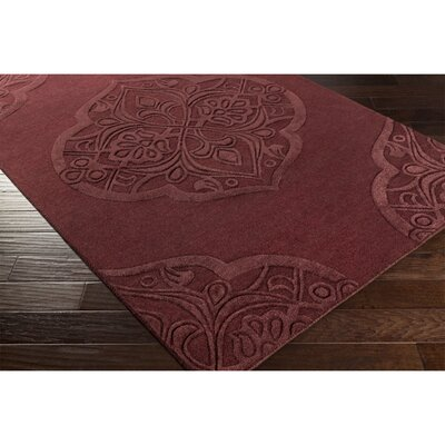 Alexandra Hand-Tufted Purple Area Rug Rug Size: Rectangle 8 x 10