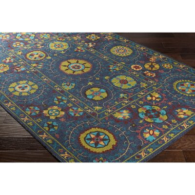 Emmie Blue/Green Area Rug Rug Size: Rectangle 8 x 11