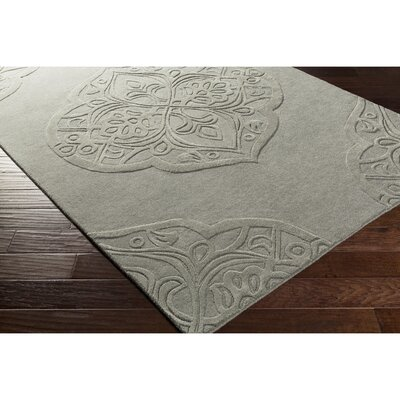 Alexandra Hand-Tufted Gray Area Rug Rug Size: Rectangle 5 x 76
