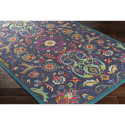 Emmie Blue Area Rug Rug Size: Rectangle 53 x 76