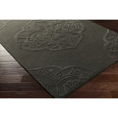 Alexandra Hand-Tufted Black Area Rug Rug Size: Rectangle 5 x 76