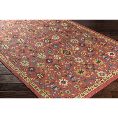 Emmie Red/Yellow Area Rug Rug Size: 8 x 11