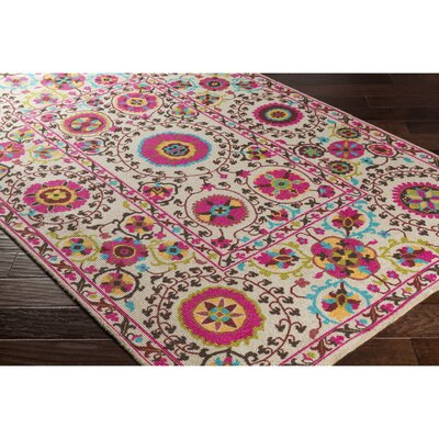 Emmie Neutral/Pink Area Rug Rug Size: Rectangle 8 x 11