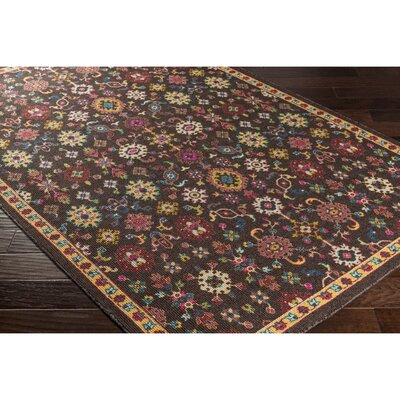 Emmie Black/Red Area Rug Rug Size: Rectangle 8 x 11