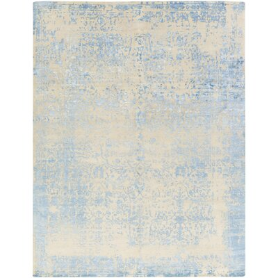 Vinoy Hand-Knotted Grey/Blue Area Rug Rug Size: 9 x 12