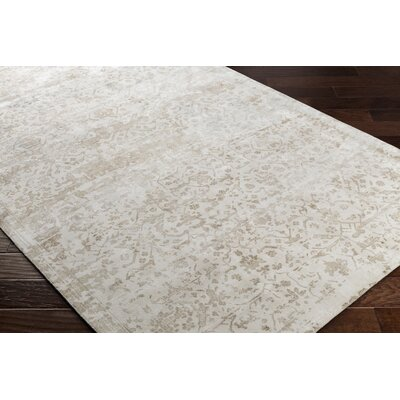 Dollie Hand-Loomed Green/Neutral Area Rug Rug Size: Rectangle 5 x 76
