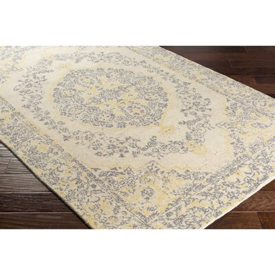 Luka Hand-Loomed Neutral Area Rug Rug Size: Rectangle 8 x 10