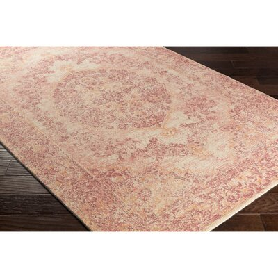Luka Hand-Loomed Cream/Pink Area Rug Rug Size: Rectangle 5 x 76