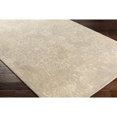 Anselma Hand-Loomed Neutral Area Rug Rug Size: Rectangle 5 x 76