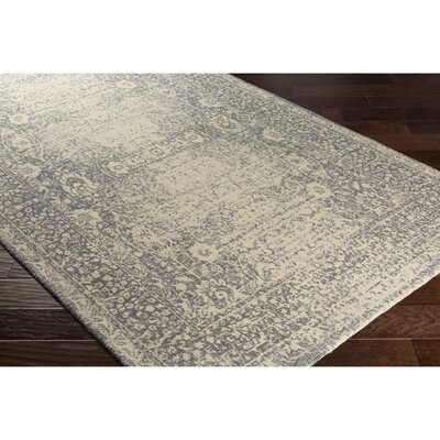 Anselma Hand-Loomed Neutral/Blue Area Rug Rug Size: Rectangle 5 x 76