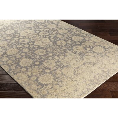 Anselma Hand-Loomed Neutral/Gray Area Rug Rug Size: 2 x 3