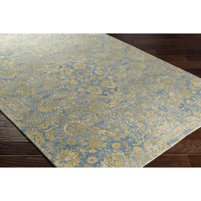 Anselma Hand-Loomed Neutral/Blue Area Rug Rug Size: Rectangle 8 x 10