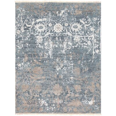 Newburg Hand-Knotted Gray Area Rug Rug Size: Rectangle 2 x 3