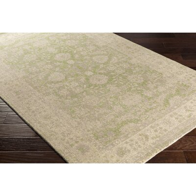 Anselma Hand-Loomed Neutral/Green Area Rug Rug Size: 2 x 3