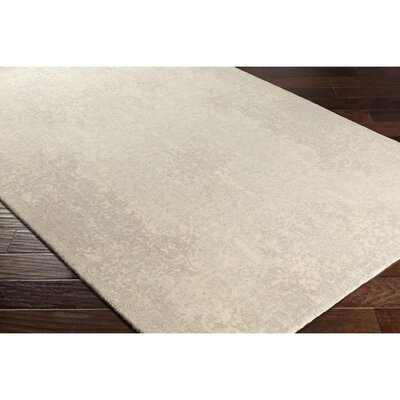 Anselma Hand-Loomed Neutral/Blue Area Rug Rug Size: 2 x 3