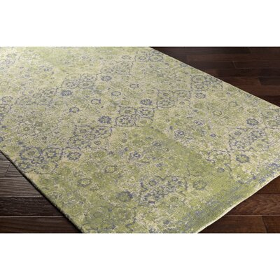 Anselma Hand-Loomed Neutral/Green Area Rug Rug Size: 8 x 10
