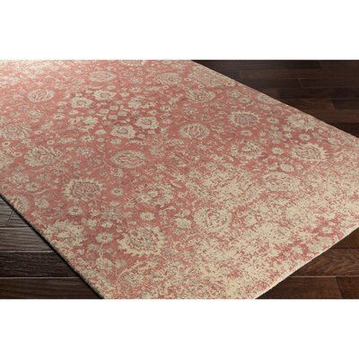 Anselma Hand-Loomed Pink/Neutral Area Rug Rug Size: Rectangle 5 x 76