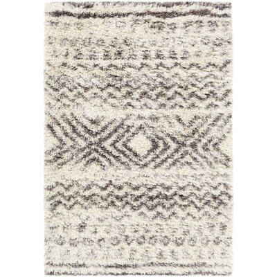 Hutchinson Geometric Neutral/Gray Area Rug Rug Size: 5 x 8