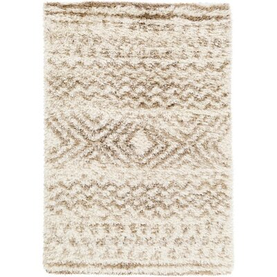 Sina Neutral/Yellow Area Rug Rug Size: 2 x 3