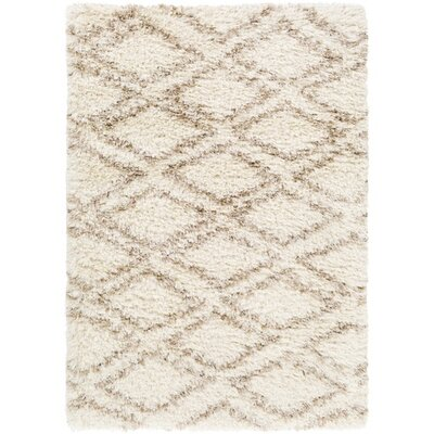 Hutchinson Rectangle Neutral/Yellow Area Rug Rug Size: 5 x 8