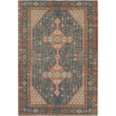 Nicole Hand-Woven Neutral/Blue Area Rug Rug Size: Rectangle 8 x 10