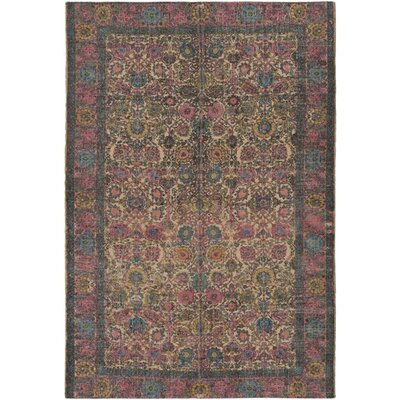 Borendy Oriental Hand-Woven Rectangle Neutral/Pink Area Rug Rug Size: Rectangle 5 x 76