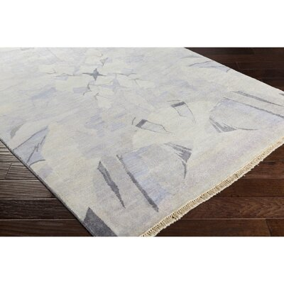 Larache Hand-Knotted Neutral/Brown Area Rug Rug Size: 6 x 9
