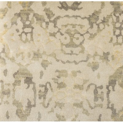 Marina Hand-Knotted Neutral/Green Area Rug Rug Size: 2 x 3