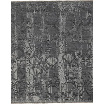 Wabe Hand-Knotted Gray Area Rug Rug Size: 6 x 9