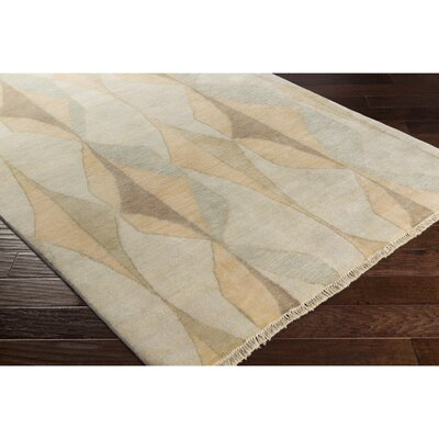 Larache Hand-Knotted Neutral/Brown Area Rug Rug Size: 6' x 9'