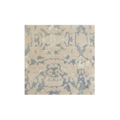 Marina Hand-Knotted Neutral/Green Area Rug Rug Size: 9 x 13