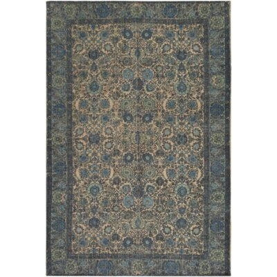 Borendy Hand-Woven Neutral/Black Area Rug Rug Size: Rectangle 5 x 76