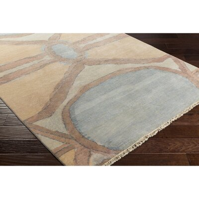 Larache Hand-Knotted Yellow/Brown Area Rug Rug Size: 6 x 9
