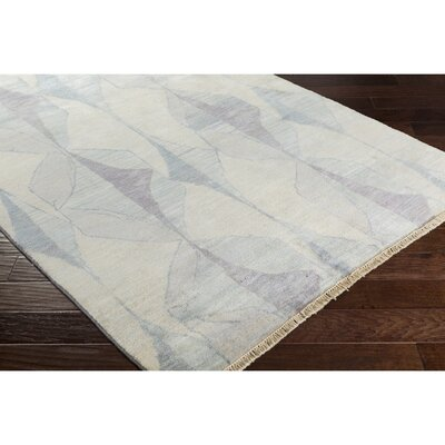 Larache Hand-Knotted Neutral/Gray Area Rug Rug Size: 2 x 3
