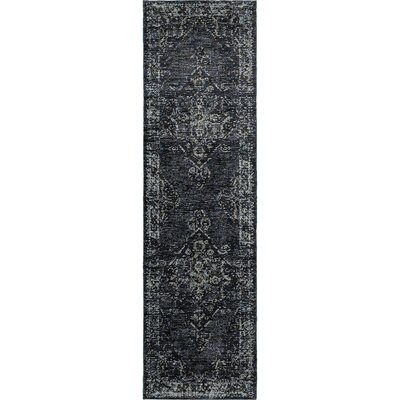 Tuma Medallion Blue Area Rug Rug Size: Runner 22 x 83