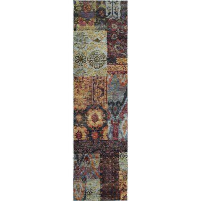 Tuma Blue Area Rug Rug Size: Rectangle 52 x 76